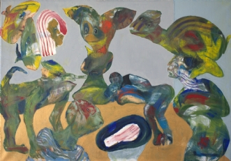 Der Scheißpolitiker by Bogdan Murg Perlmutter | maleri