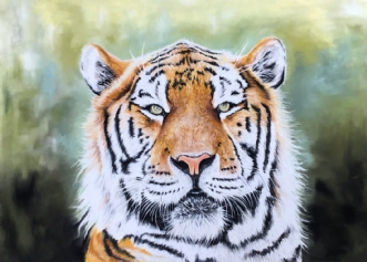 Tiger by Heidi Berthelsen | maleri