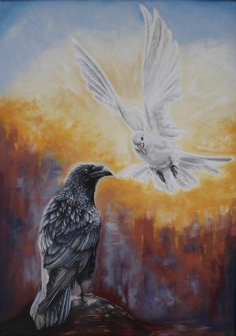 Guddommeligt univer.. by Heidi Berthelsen | maleri