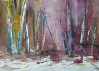 Skoven by Annemarie Jepsen | maleri