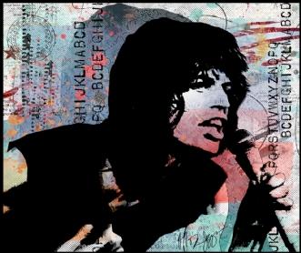 Mick Jagger by Kæthe Fog | unikaramme