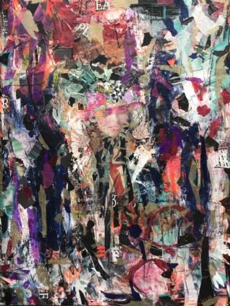 ingen pæne piger he.. by Merete Lemvigh | maleri
