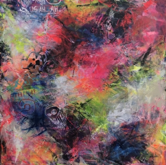 Colourful Chaos 1 by Merete Lemvigh | maleri