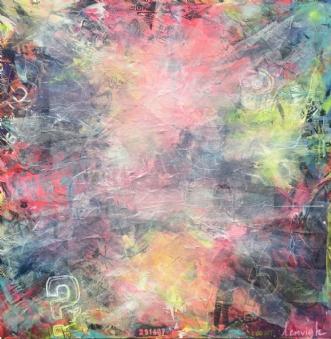 Colourful Chaos 2 by Merete Lemvigh | maleri