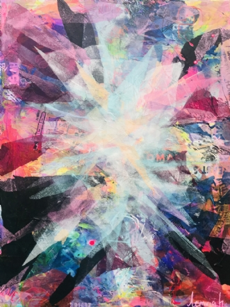 Colorful Chaos 5 by Merete Lemvigh | maleri
