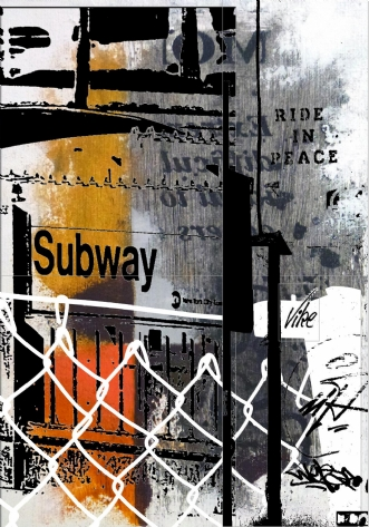 Subway. N.Y by Vike Pedersen | maleri