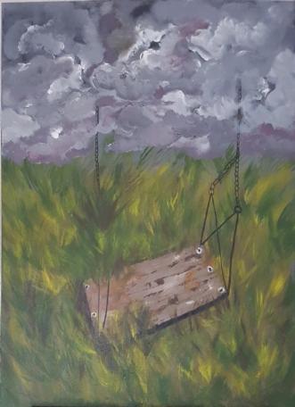 Ensomhed 2 by Yse Møller | maleri
