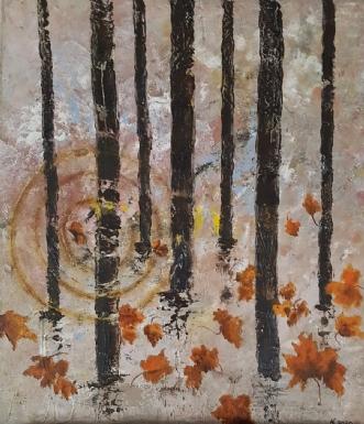 Efterårs sol by Yse Møller | maleri