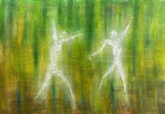 Forårsdans by Allan Hilleborg | maleri