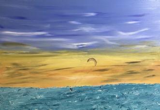Freedom, Kite by Allan Hilleborg | maleri