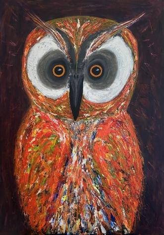 Ugle by Allan Hilleborg | maleri