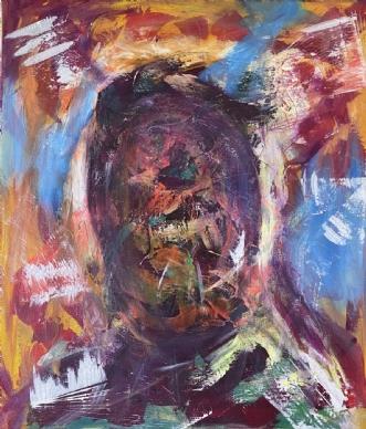 Ser igennem dig. by Allan Hilleborg | maleri