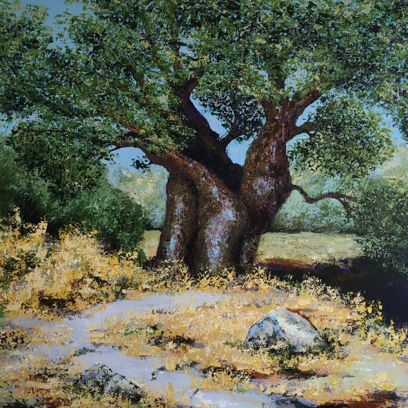 Olivenlunden by Puk Josefine Risom | maleri