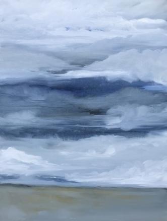 Ved Vesterhavet by Asta Nissen | maleri