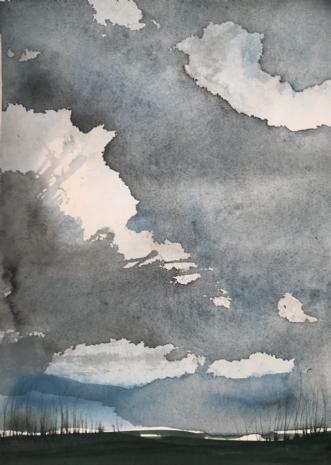 Sky #2 by Asta Nissen   maleri