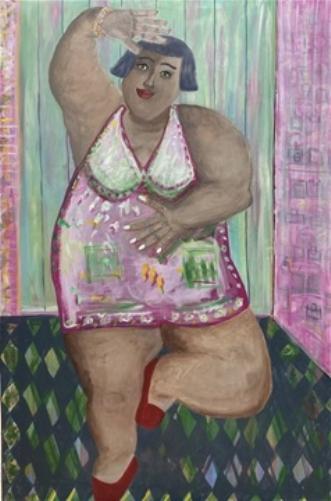Prima yoga ballerin.. by Lone Gadegaard Dyrby | maleri