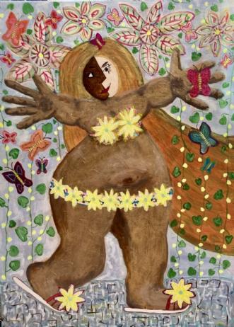 Itsy Bitzy Teenie W.. by Lone Gadegaard Dyrby | maleri