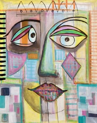 'SHE' by Lone Gadegaard Dyrby | maleri