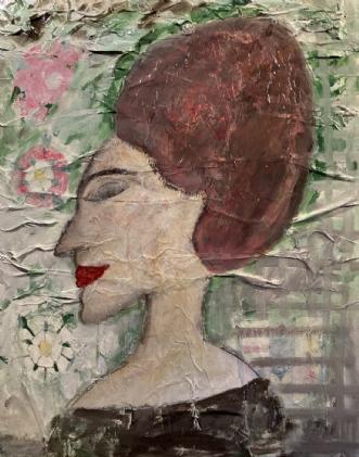 Magaret of Anjou - .. by Lone Gadegaard Dyrby | maleri