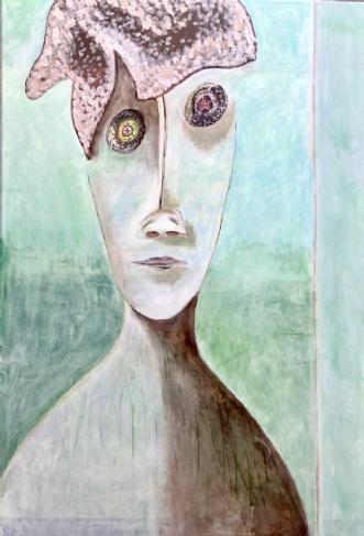 Stary stary eyes by Lone Gadegaard Dyrby | maleri