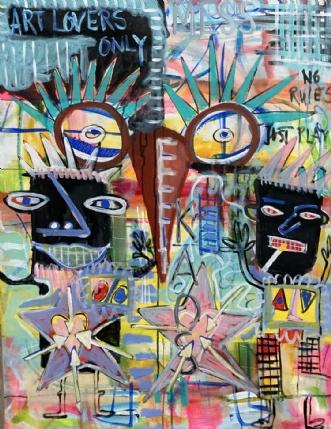 Art lovers only...... by Lone Gadegaard Dyrby | maleri