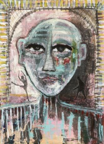Portrait of a Fickl.. by Lone Gadegaard Dyrby | maleri