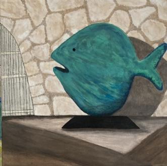 'It's rather fishy' by Lone Gadegaard Dyrby | maleri