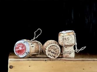 Champagne propper by Jeanette Elmelund | maleri