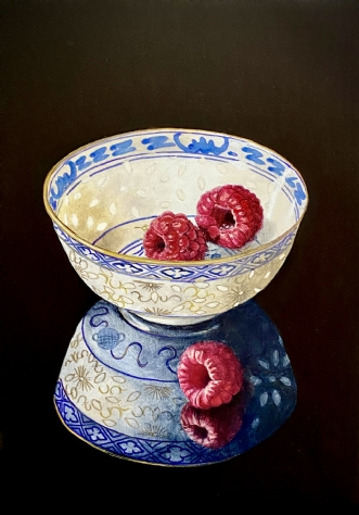 Bowl & berry by Jeanette Elmelund | maleri