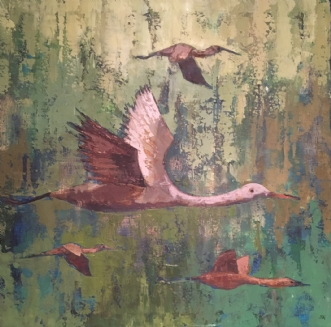 Fugletræk by Birthe Kjærsgaard | maleri