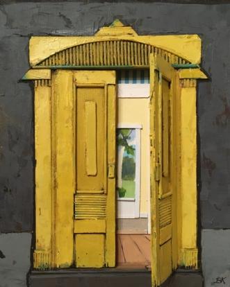 Åbne døre by Birthe Kjærsgaard | maleri