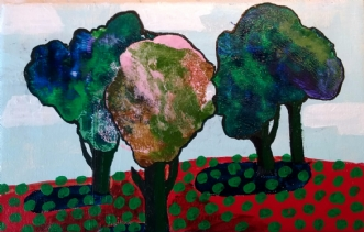 Skovbakken I by Henriette Bang | maleri