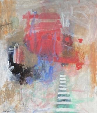 uden titel by Hanne Mølgaard Nielsen | maleri