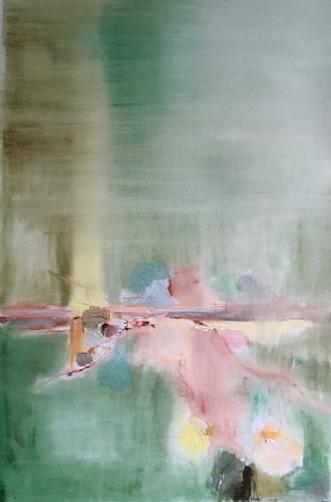 Ekko bag døren by Sofie Plys Løssl Haxthausen | maleri