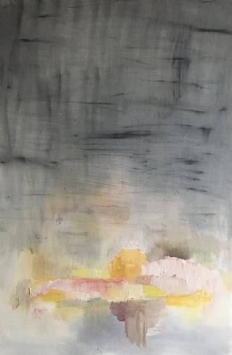 Rummet på den anden.. by Sofie Plys Løssl Haxthausen | maleri