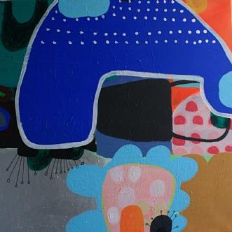 Blå vækst by Hanne Charlotte Rosenmeier | maleri