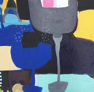 Vækster i blåt by Hanne Charlotte Rosenmeier | maleri
