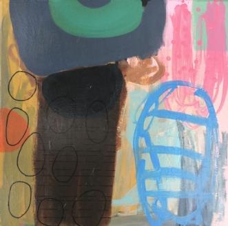 The visit by Hanne Charlotte Rosenmeier | maleri