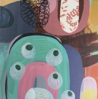 The garden jewels by Hanne Charlotte Rosenmeier | maleri