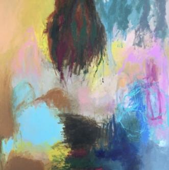 Dagens venten by Hanne Charlotte Rosenmeier | maleri