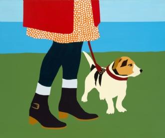 Strandtur med hunde.. by Pia Noach | maleri