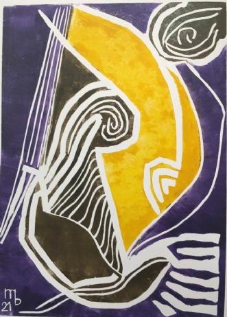 Op med humøret by Martin Bruggisser | tegning