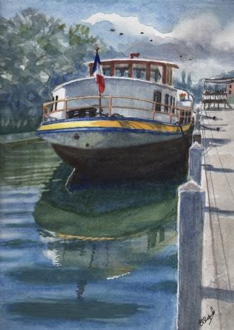 """""""Barge på Seinen""""afHenrik Elbrønd"""