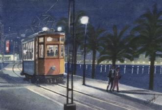 Sidste sporvogn.. by Henrik Elbrønd | tegning