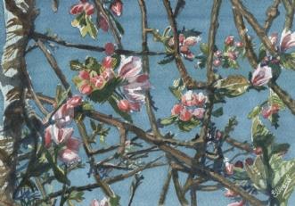 Æbletræet i maj.. by Henrik Elbrønd | maleri