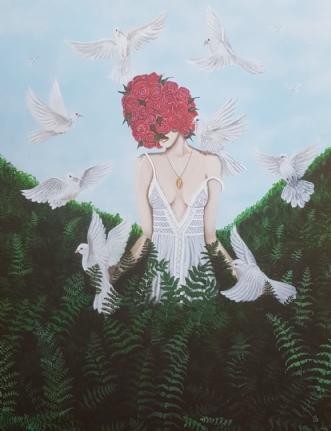 Femme Liberté by Julie Busch | maleri