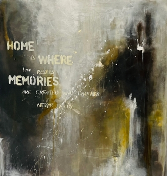home by Helene Lerche | maleri