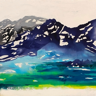 Når Tågen letter - .. by Mette Hansgaard | maleri