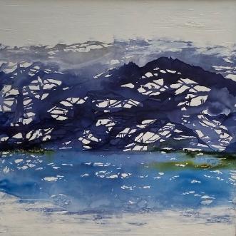 Det store blå. Mode.. by Mette Hansgaard | maleri