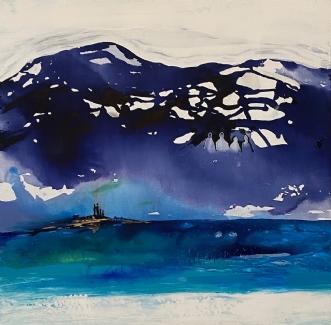 Generationer i blå by Mette Hansgaard | maleri